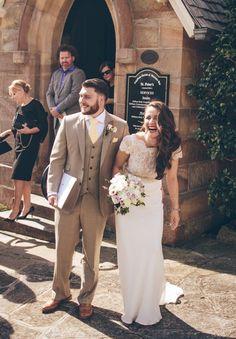 Cilla wearing Mira Mandic wedding dress | A DUNBAR HOUSE WEDDING: CILLA   JOHN | Hello May