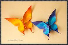 折り紙蝶を折るする方法