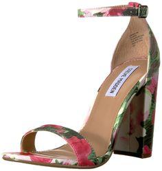 Steve Madden Women's Carrson Dress Sandal, Floral Multi, 8 M US