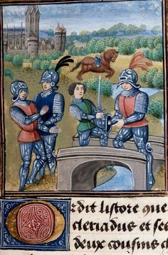 Cleriadus et Meliadice, Historia Apollonii regis Tyri Netherlands, S. Last quarter of the century. Medieval Books, Medieval World, Medieval Armor, Medieval Paintings, Wars Of The Roses, Book Of Hours, Historical Art, European History, Panzer