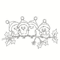 Rubber Silicone Clear Stamps for Scrapbooking Tampons Transparents Seal Background Stamp Card Making Christmas bird|Stamps| - AliExpress Christmas Bird, Christmas Drawing, Christmas Paintings, Christmas Colors, Christmas Crafts, Colouring Pages, Adult Coloring Pages, Coloring Books, Christmas Coloring Sheets