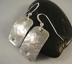 Hammered earrings from Jewelry by Francine.