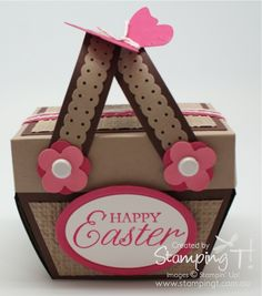 Stampin Up! Stamping T! - Easter Basket Surprise Box