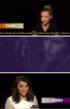 When the cast of Les Mis quotes Wicked! My life complete