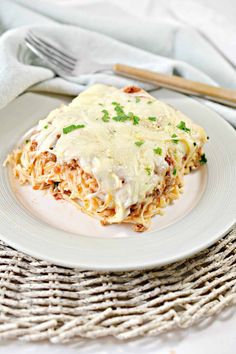 Baked Cream Cheese Spaghetti, Baked Spaghetti, Spaghetti Noodles, 9x13 Baking Dish, Easy Casserole Recipes, Weeknight Meals, Food For Thought, Family Meals, Great Recipes