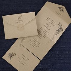 Vintage roses seal n send from carlson craft item number larkspur seal n send kraft this seal n send wedding invitation is an affordable option for an lds bride you can customize the wording filmwisefo