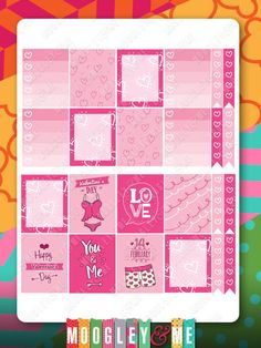 Valentine Sticker Kit for your Erin Condren Life Planner, Happy Planner, or any planner! by MoogleyandMe on Etsy