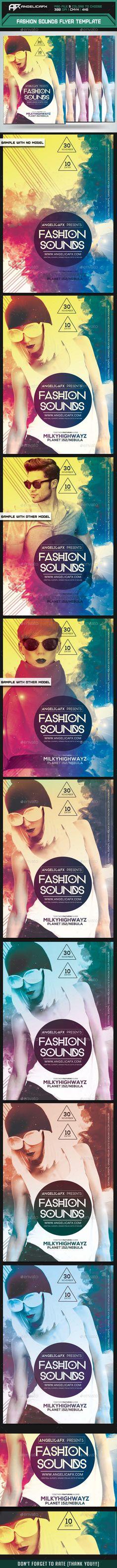 Contemporary Fashion Flyer Poster A4 Vol 2 Fashion, 2! and Flyers - contemporary flyer
