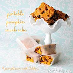 Cleverly Inspired: Pumpkin Snack Cake Recipe #pumpkin #recipe