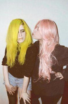 Pastel hair. Grunge.