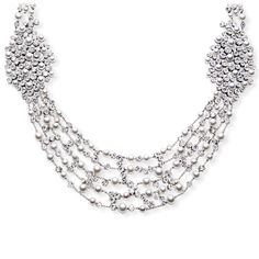 White gold Pearl Diamond Necklace - Piaget Luxury Jewellery G37LE300