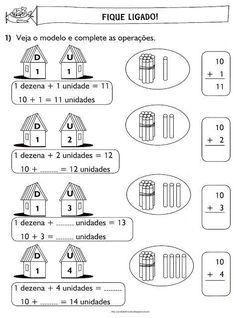 15 Atividades unidade e dezena para imprimir Math Challenge, All Schools, A30, Math Worksheets, Classroom, Activities, Gabriel, Professor, Alice