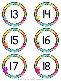 Monster Theme Numbers by The Teaching Treehouse Color Activities, Craft Activities For Kids, Preschool Activities, Monster Theme Classroom, Classroom Themes, Kindergarten, Clip Art, Teaching, Treehouse