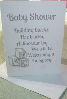 Baby Shower Invitation / Baby Boy Shower Invitation / Shower Invitation / Baby Blocks / Alphabet Blocks by LoraArtandStationery on Etsy