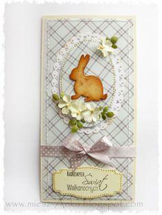 card critters bunny rabbit Easter card handmade, card with critters, bunny rabbit, hare, Karte Ostern, påske kort