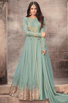 Gorgeous Light Blue Color Net Fabric Designer Party Wear Look Style Indian Bride Women Fashion Festival Wear Floor Length Sonal Chauhan Suit #sonalchauhan #bollywooddress #celebrityfashion #traditionalwear #attractivedresses #embroidereddress #netfabrics #fancyanarkalisuit #latestfashion #newdresses #womenfashion #gowns #zariwork #indianbrideoutfits #fashion #style #beauty #weddingwear #indiandresses #canada #russia #germany #france #usa #uk #banglore #bangkok