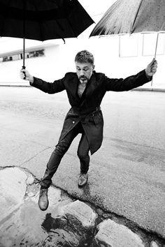 #ChristophWaltz and his #beard strike a funny pose! {Lorenzo Bringheli Vogue, 2010}