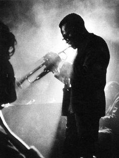Miles Davis at Birdland, New York City, 1958; photographed by Dennis Stock.