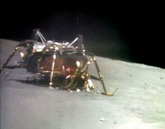 Apollo 16 descent stage after departure of ascent stage.