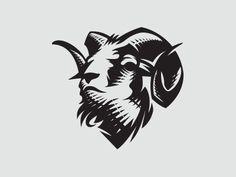 Ram logo by Mersad Comaga Widder Tattoos, Sheep Logo, Goat Logo, Lion And Lamb, Capricorn Tattoo, Arm Sleeve Tattoos, Tattoo Graphic, Mascot Design, Silhouette Art