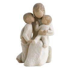 "Quietly Willow Tree Figurine: Quietly encircled by love"" By Susan Lordi. Buy now at the Shabby Shed Willow Tree Engel, Willow Tree Figuren, Willow Figurines, Willow Statues, Filigranes Design, Hand Carved, Hand Painted, Carved Wood, Mothers Day Presents"
