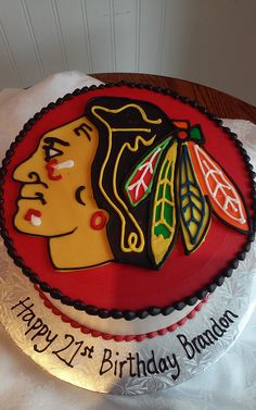 Blackhawks Birthday Cake - SweetPea Cakes, Bakery, Crystal Lake   BUTTERCREAM PARTY CAKES