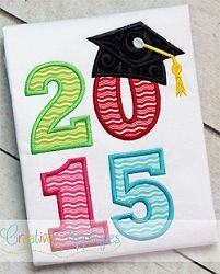 2015 Graduation Applique - 4 Sizes! | What's New | Machine Embroidery Designs | SWAKembroidery.com Creative Appliques
