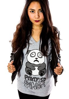 Daily Tee: Petrified Panda t-shirt design - Fancy T-shirts Kawaii Fashion, Cute Fashion, Fashion Outfits, Daily Tee, Special Group, Horse Shirt, Panda Bears, Fabric Printing, Kawaii Clothes