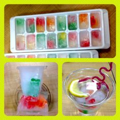 Gummy Bear Mocktails! We can freeze gummy bears and SPRITE and put them in punch bowls! #relay