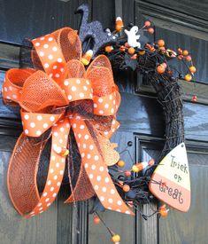 Halloween Wreath Fall Wreath Candy