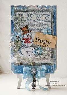 Winter Stamping created for Simon Says Stamp Monday Challenge Blog by Emma Williams ~ using Tim Holtz products