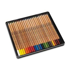 It's like having a creamy crayon in a pencil. Offering the ultimate control on paper, these premium oil-based colored pencils lay down smoothly with no wax build-up. They're easily blended and overlay