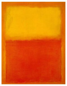 "Mark Rothko, Orange and Yellow, 1956. Oil on canvas, 91"" x 71."""