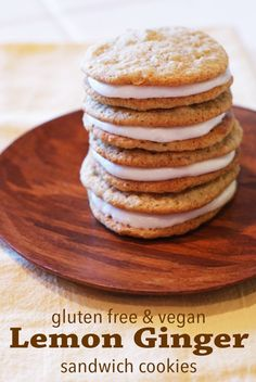 Gluten free vegan lemon ginger sandwich cookies - Ask Anna/ Sarah bakes gluten free treats