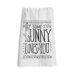Some Bunny Tea Towels - Set of 2