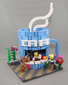 LEGO IDEAS - Help Decorate the LEGO House! - Minifigure: Coffee Cup Cafe idea the world training craft craft diy craft for kids craft no sew craft to sale Lego Moc, Lego Minecraft, Pokemon Lego, Lego Modular, Lego Design, Legos, Lego Avengers, Lego Batman, Coffee Cup Cafe