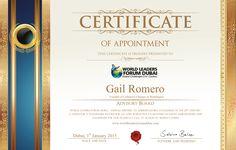 Certificate Gail Rom