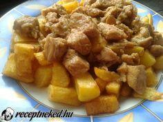 Érdekel a receptje? Kattints a képre! Küldte: Alexandra1234 Hungarian Recipes, Hungarian Food, Pork Dishes, Apple Pie, Sweet Potato, Potatoes, Vegetables, Ethnic Recipes, Desserts