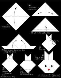 Easter-craft idea-How to fold an Origami Bunny Head