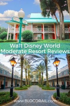 Walt Disney World Moderate Resort Reviews: Taking a close look at all of the moderate Disney resort hotels in Orlando, from Port Orleans Riverside & French Quarter to Coronado Springs and Caribbean Beach. Tips for your stay, pool overviews, and on-site restaurant sneak peeks at each and every moderate resort!   The Blogorail