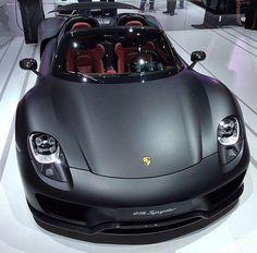 Matte Black Porsche 918 Spyder - this is what Matte finish should look like. Ferdinand Porsche, Porsche 918 Spyder, Porsche Panamera, Porsche Cars, Porsche 2020, Luxury Sports Cars, Sport Cars, Maserati, Lamborghini Huracan