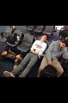 At first I only saw G and Sammy and then I see the way Sam is sprawled out and I look to the left of him and I see...JOHNSON SLEEPING ON THE FLOOR