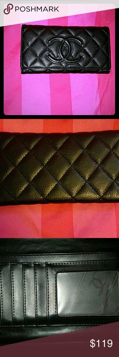 Gorgeous quilted wallet Flawless auth is 50/50 the lady i bought it from said she had the inside relined and when they reline it they dont put the codes or tags back with it . I may be willin to throw in a free gift just ask ?? cheaper on my e b a y type seller:lovez87   in the search bar    Bags
