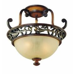 Hampton Bay, Caffe Patina 2-Light Semi-Flush Mount, 16008 at The Home Depot - Mobile
