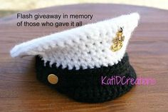Crochet Military Inspired hat for little ones- Free pattern