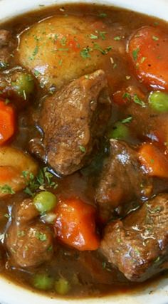 Dying for my homemade stew. I will need to make some soon. It's so YUMMY! Van Marie ~Hearty Beef Stew