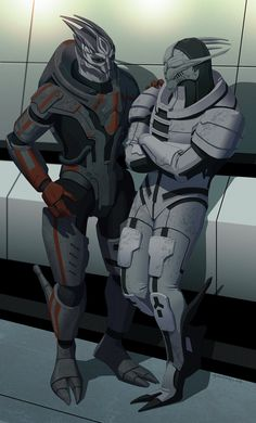 off the record by doubleleaf on deviantART - commission for virtualmorrigan - Saren and Nihlus from Mass Effect