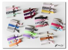 Easy Elastic Hair Ties and Headbands (no sew!) - with Hairbow Supplies, Etc ~ Sugar Bee Crafts
