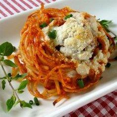 Spaghetti and Meatballs Muffin Bites - Allrecipes.com