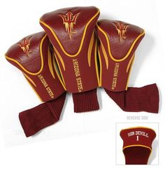 Arizona State University Contour Gollf Club HeadCover - 3 Pack